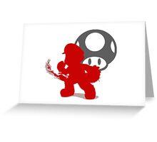 Smash Bros - Mario Greeting Card