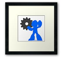 Smash Bros - Megaman Framed Print