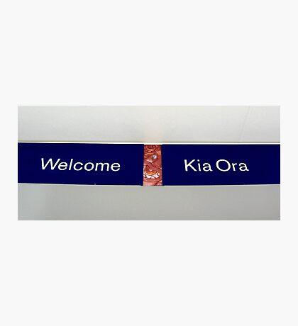 simply, kia ora Photographic Print