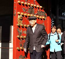 Old Man And Red Door by phil decocco