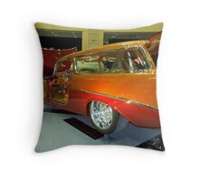 1956 ORANGE Custom Chevrolet Handyman Wagon Throw Pillow