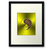 Gemini & Dragon Yang Earth Framed Print