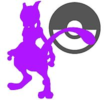 Smash Bros - Mewtwo Photographic Print