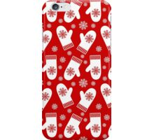 Christmas Red Winter Mittens iPhone Case/Skin