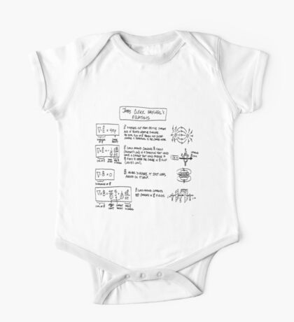Maxwell's Equations [light] One Piece - Short Sleeve