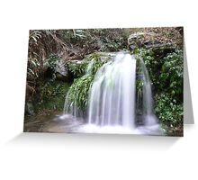 Falls in rural China Greeting Card