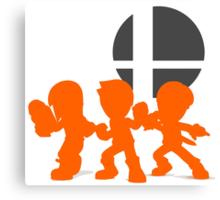 Smash Bros - Mii Fighter Canvas Print