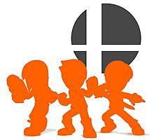 Smash Bros - Mii Fighter Photographic Print