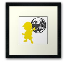 Smash Bros - Ness Framed Print