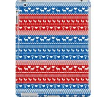 Red and Blue Christmas Sweater Reindeer iPad Case/Skin