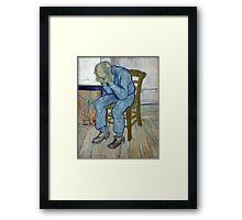 'At Eternity's Gate' by Vincent Van Gogh (Reproduction) Framed Print