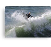360 deg flip by surfer Canvas Print