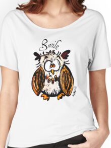 owl and smile  Women's Relaxed Fit T-Shirt