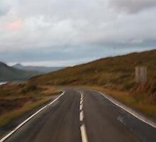 Lost in Scotland road by ghertaf