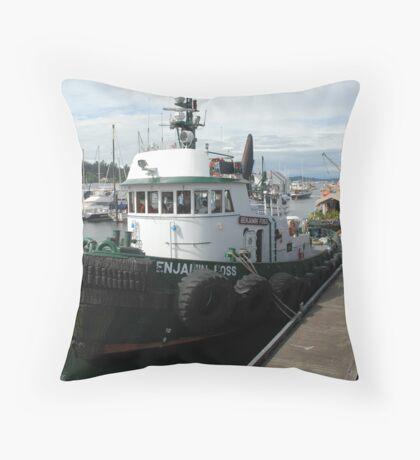 Benjamin Foss Tugboat Throw Pillow