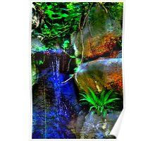 Sunken Gardens Waterfall One Poster