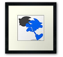 Smash Bros - Sonic Framed Print
