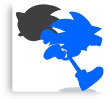 Smash Bros - Sonic Canvas Print