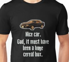 Must have been a huge cereal box Unisex T-Shirt
