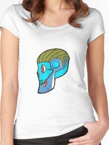 Robot skull Women's Fitted Scoop T-Shirt