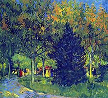 'Allee in the Park' by Vincent Van Gogh (Reproduction) by Roz Abellera Art Gallery