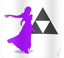 Smash Bros - Zelda Poster