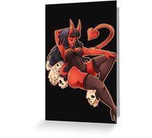 Demon Gal Greeting Card