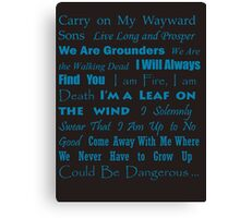 Multi Fandom Anthem 2 Canvas Print