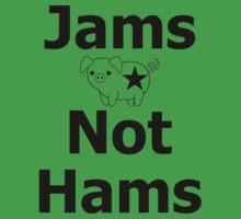 Jams Not Hams! Veggie Roller Derby T-Shirt