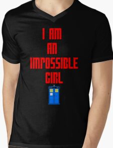 I am an impossible girl - Doctor Who Clara Mens V-Neck T-Shirt