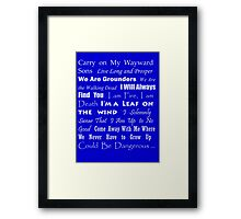 Multi Fandom Anthem 2 Framed Print