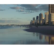 Sunset on the Gold Coast  Photographic Print