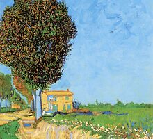 'A Lane in Arles' by Vincent Van Gogh (Reproduction) by Roz Abellera Art Gallery