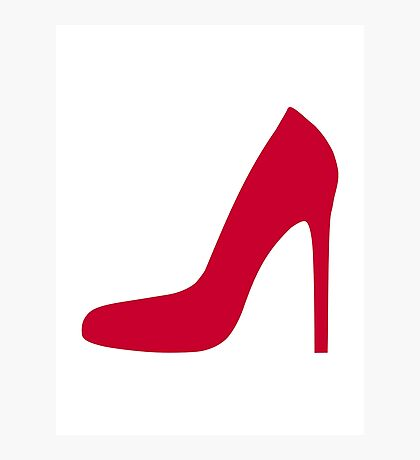 Red pumps Photographic Print