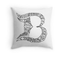 Patterned Letter B Throw Pillow