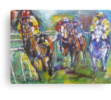 Racing colours Canvas Print