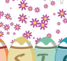 Colored Easter Eggs Sticker