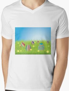 Colored Easter Eggs 2 Mens V-Neck T-Shirt