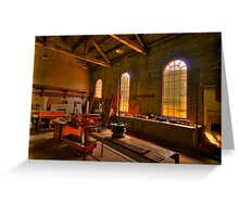 Light Room - State Mining HIstorical Park ,Lithgow NSW - The HDR Experience Greeting Card