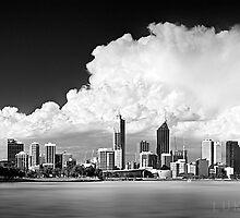 Perth City in B&W by LukeAustin