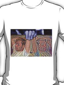 Jason on a Placard in my Lavendar Hand T-Shirt