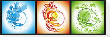 Three abstract designs by piscari