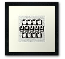 Home Sweet Home Computer Keys Framed Print