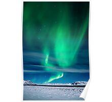 Aurora Borealis over Mosfellsheidi Poster