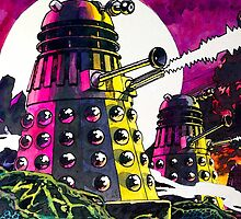 Daleks Warrior Fighting - The Time War Paint Doctor Who by markomellark
