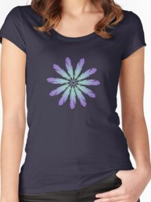 Feather Daisy Flower Women's Fitted Scoop T-Shirt