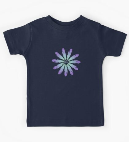 Feather Daisy Flower Kids Tee