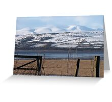 Ben Wyvis from the Black Isle Scotland Greeting Card