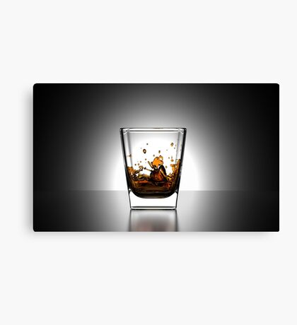 Whiskey On The Rocks Canvas Print