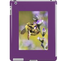 Carpenter Bee and Purple Flowers iPad Case/Skin